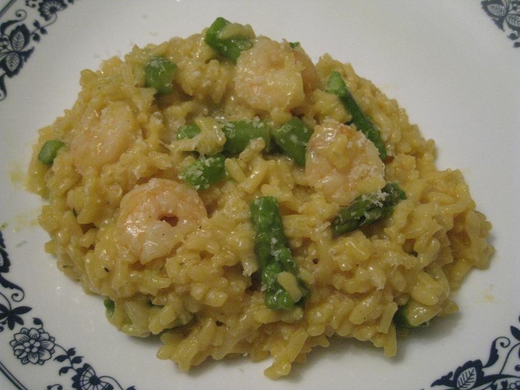 asparagus shrimp risotto